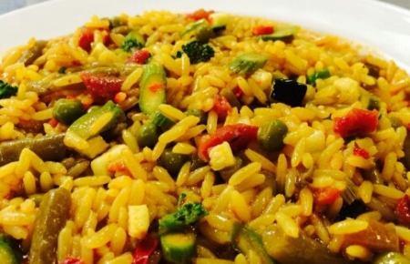 Arroz con verduras Catering Comedor Escolar Boyma